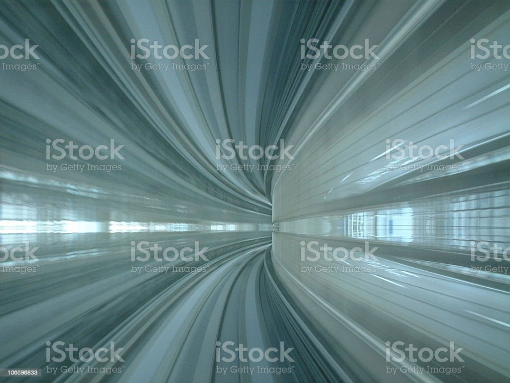 Motion blur gives the appearance of speed stock photo