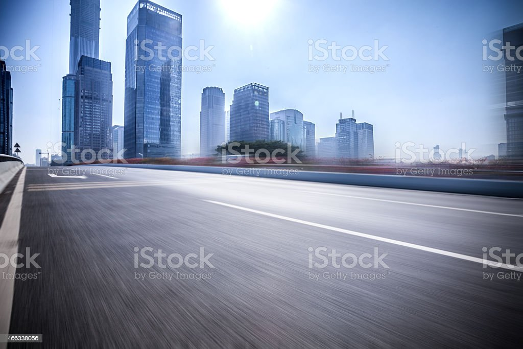 Motion blur image of highway stock photo