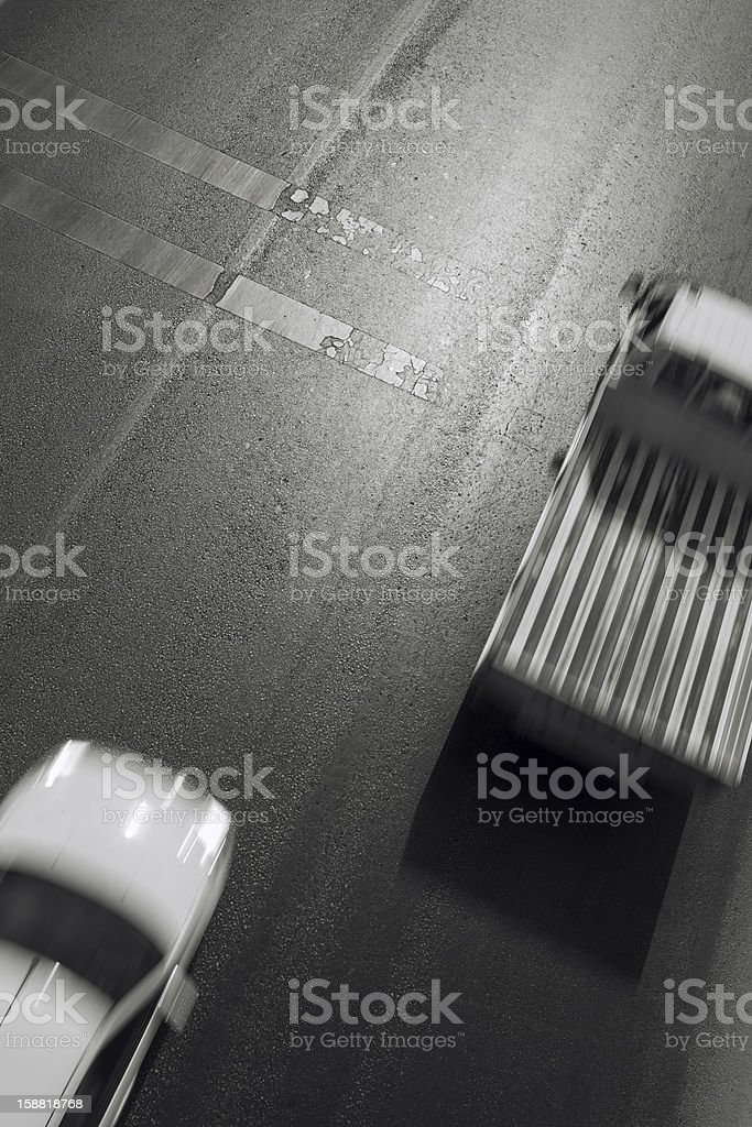 Motion Blur of Cars on Highway royalty-free stock photo