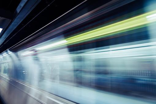 istock Motion Blur of NYC Subway Train 1009022852
