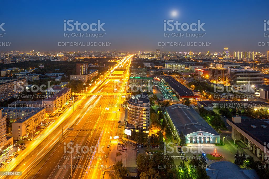 Motion blur of road traffic royalty-free stock photo
