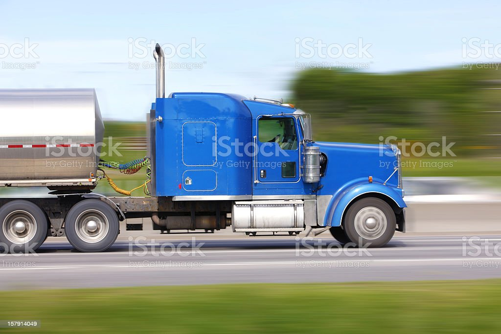 Motion blur of truck on highway. royalty-free stock photo