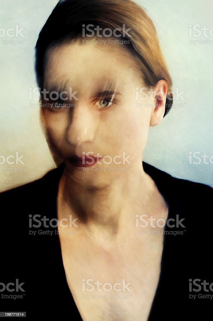 motion blur portrait royalty-free stock photo