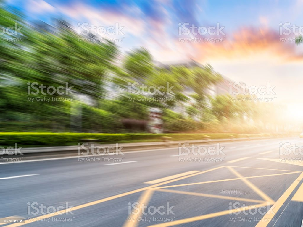 motion blur street stock photo