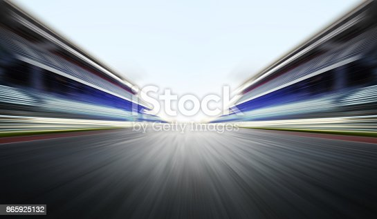 motion blure background with arena for f1