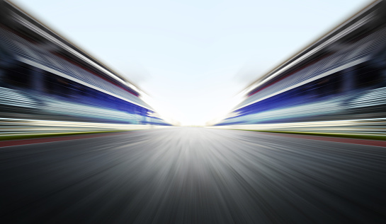 istock motion blure background with road 865925132