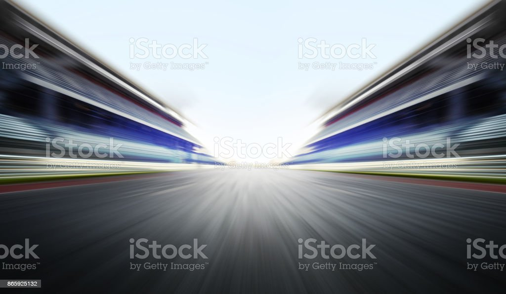 motion blure background with road stock photo