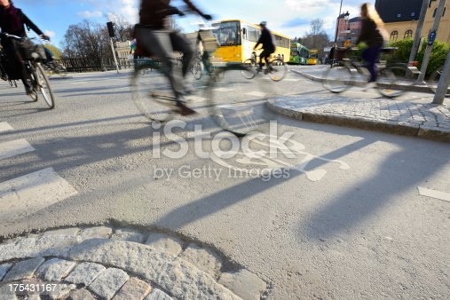 istock Motion blurred bikes 175431167