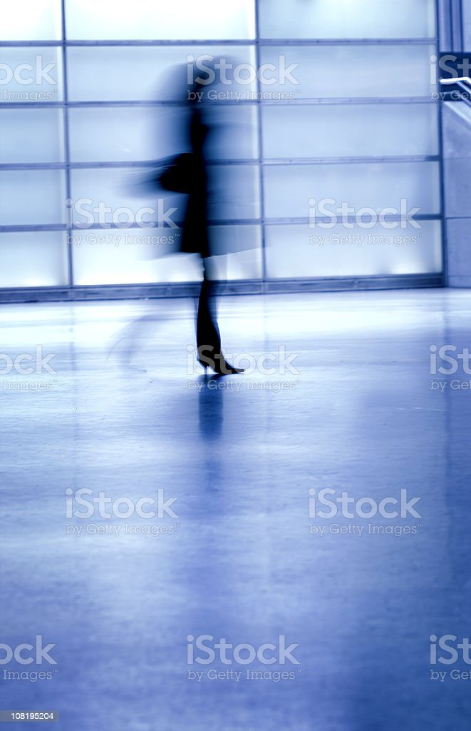 Motion blurred commuter stock photo