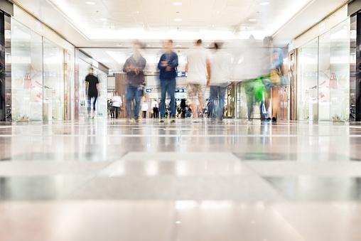 Motion Verschwommene Kunden Zu Fuß In Einkaufszentrum Hong Kong Stockfoto und mehr Bilder von Asien