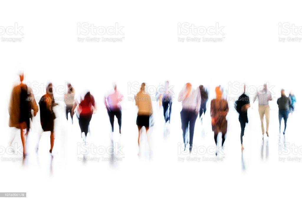 Bewegung verwischt Personengruppe Businesss – Foto