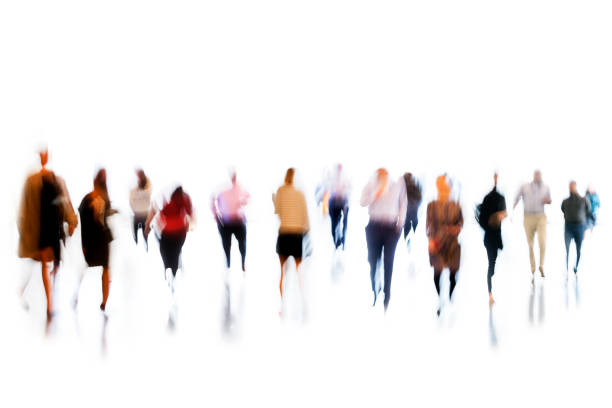 Motion Blurred Group of Businesss People stock photo