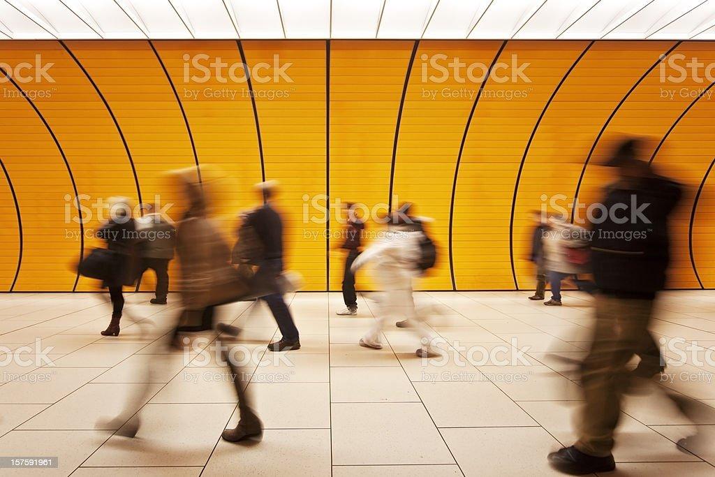 Movimento offuscata persone - foto stock