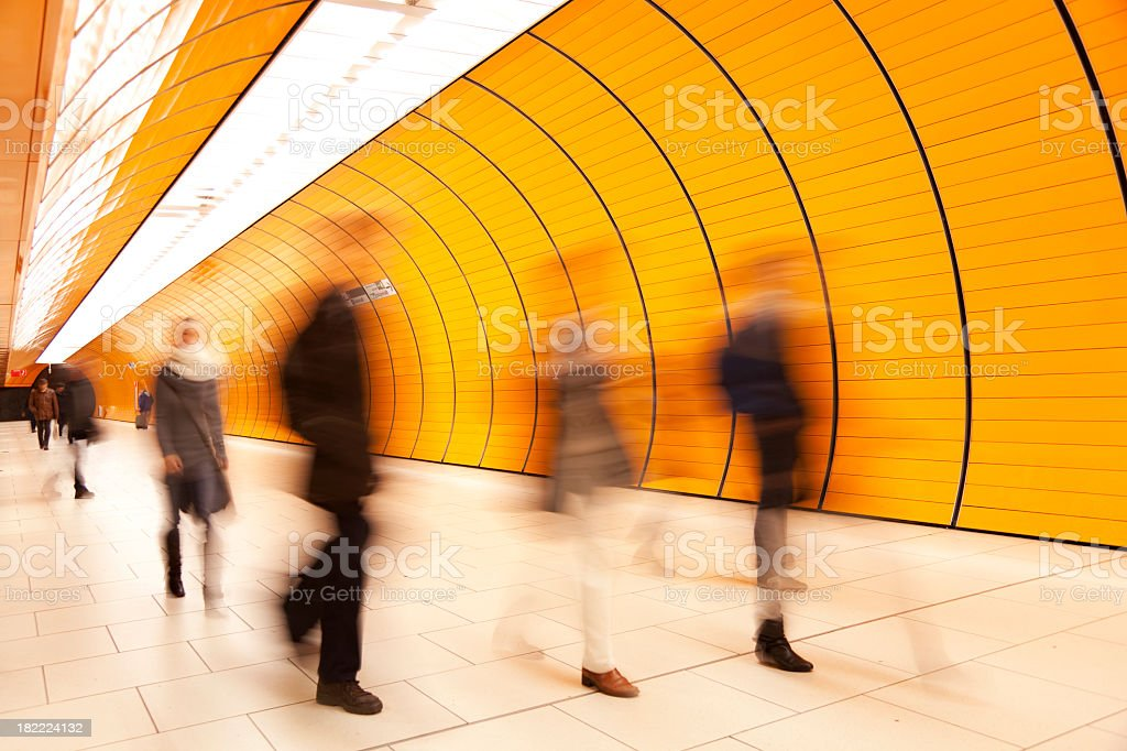 Motion Blurred People royalty-free stock photo