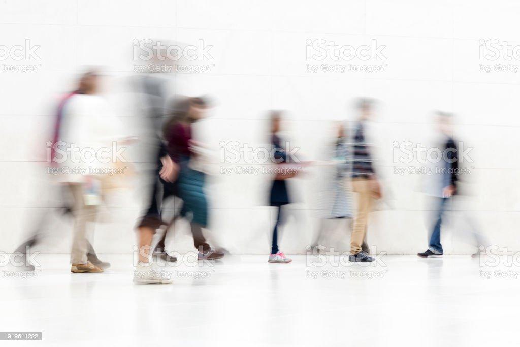 Motion verschwommene Personen – Foto