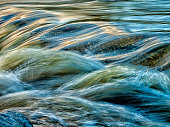 Close-up of a motion blurred mountain Stream