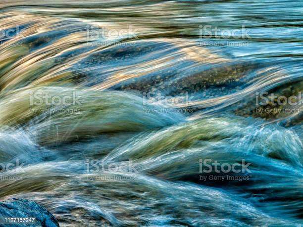 Photo of motion blurred water stream