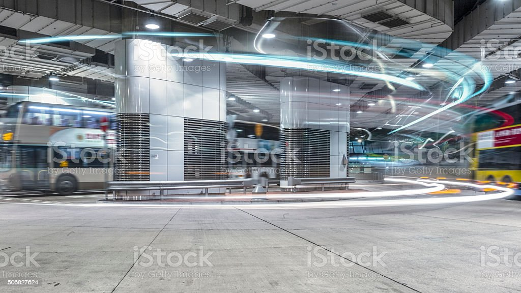 motion bus stock photo