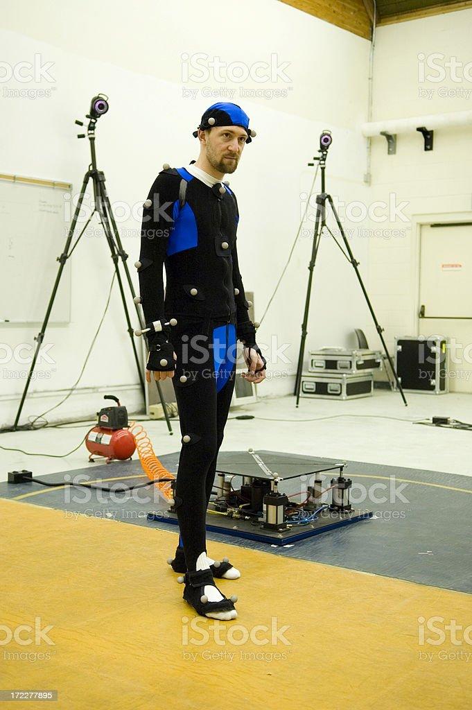 Motion Capture Actor stock photo