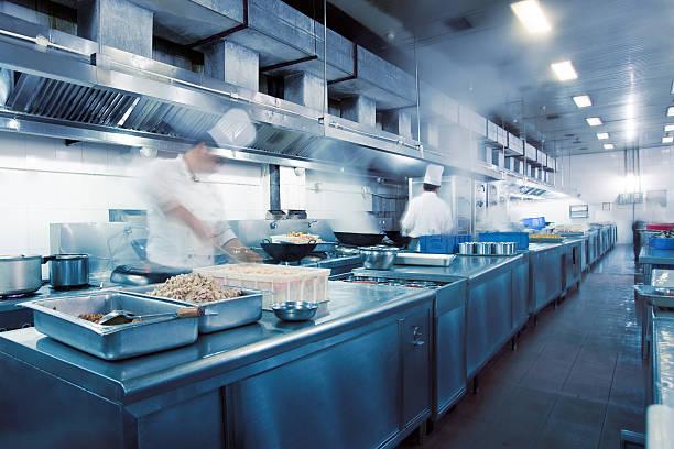 motion Köche des restaurant-Küche – Foto