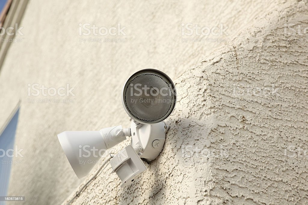 Motion detector light stock photo