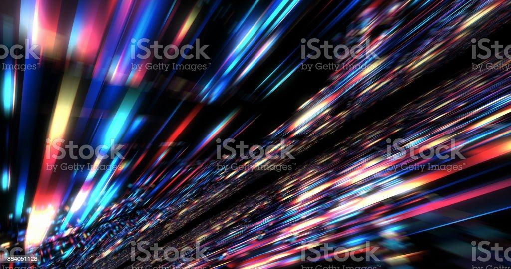 Motion Grafik für abstrakte Rechenzentrum, Server, Internet, Geschwindigkeit. – Foto