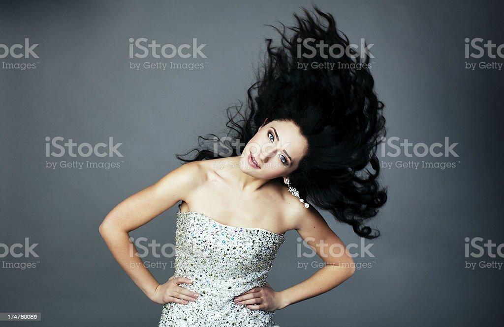 Motion hair royalty-free stock photo