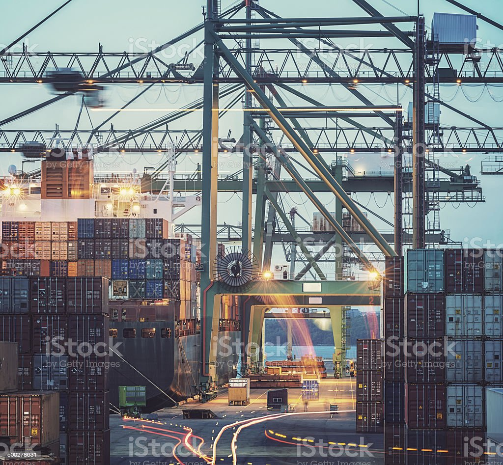 Motion of Shipping stock photo