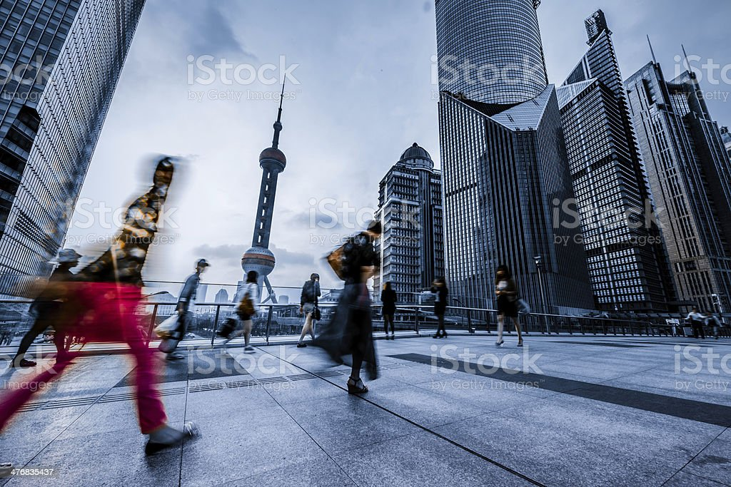 motion passengers at shanghai china stock photo