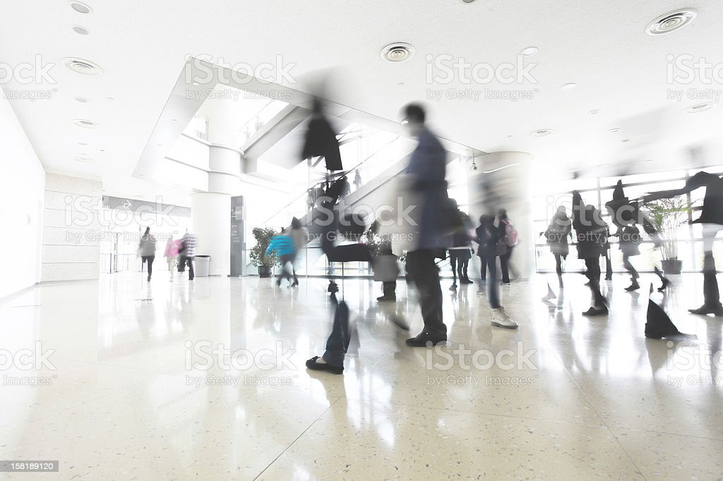 motion people in office building royalty-free stock photo