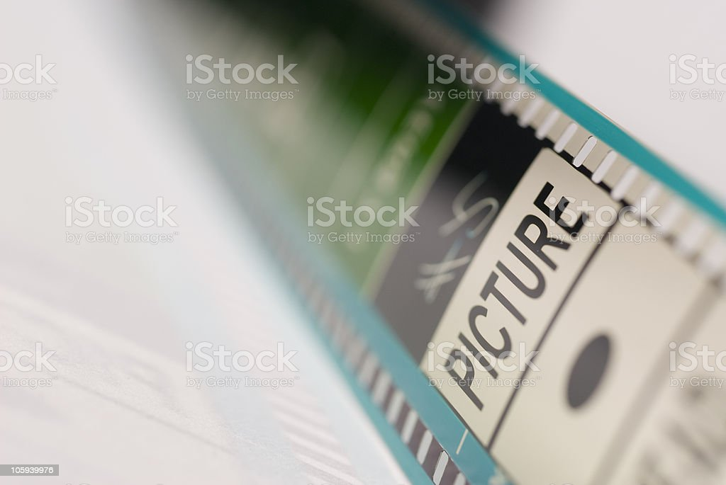 Motion Picture Film stock photo