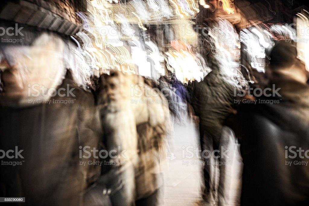 Motion street stock photo