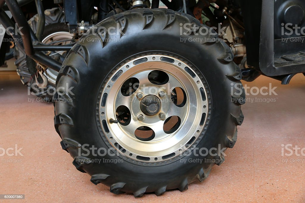 Motion the wheels tires and off-road stock photo