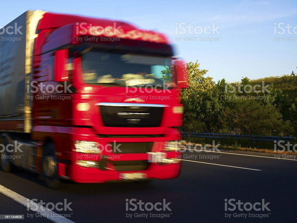 Motion Truck royalty-free stock photo