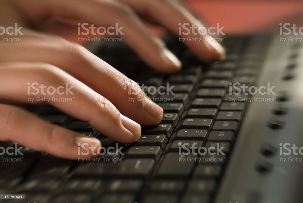 motion typing royalty-free stock photo