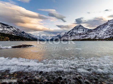 istock motion waves of Waterton Lake 1272711030