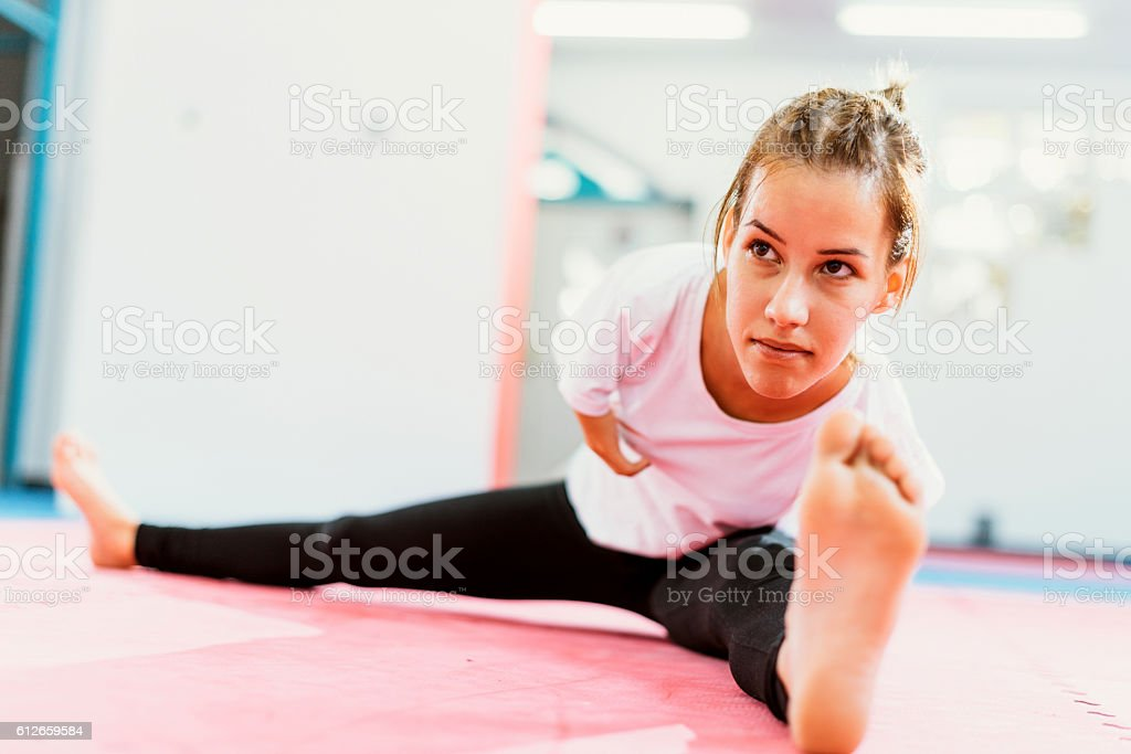Motivated handicapped athlete ready for new challenges stock photo