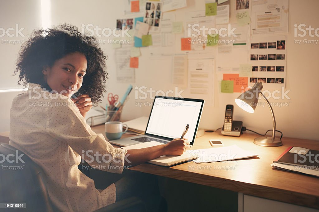 Motivated to make it work stock photo