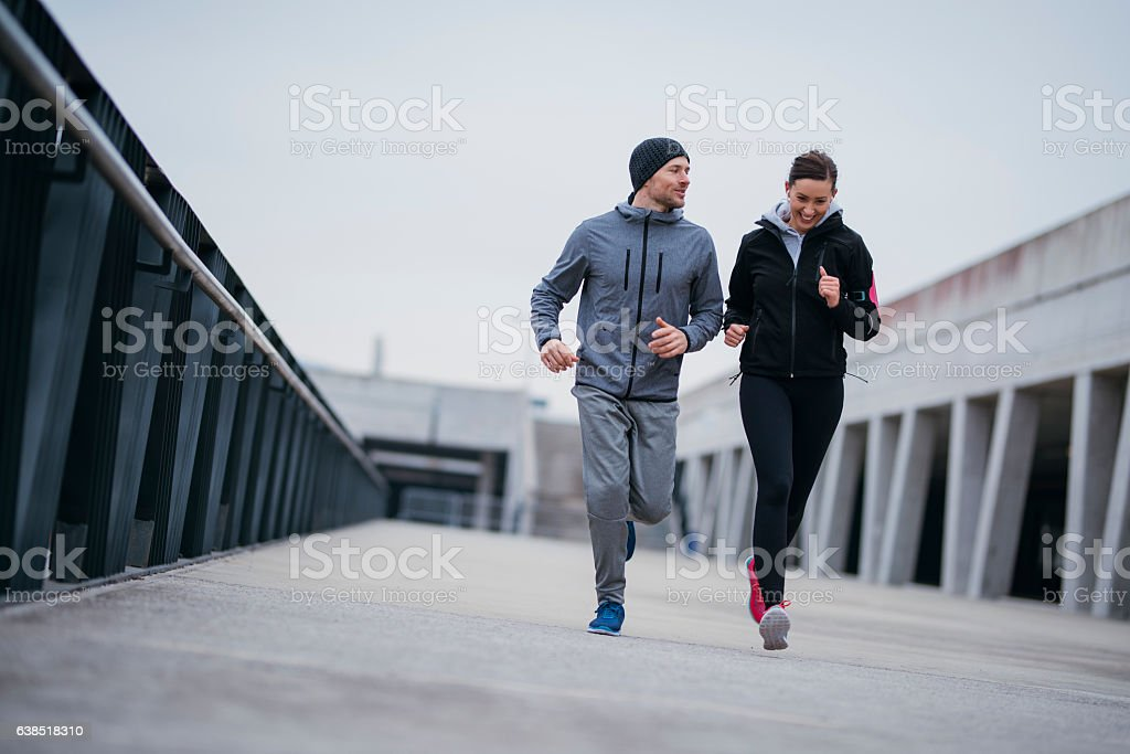 Motivating each other stock photo
