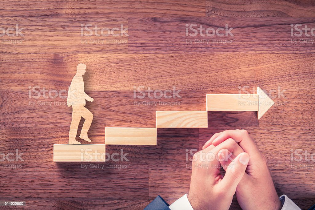 Motivation and personal development career stock photo
