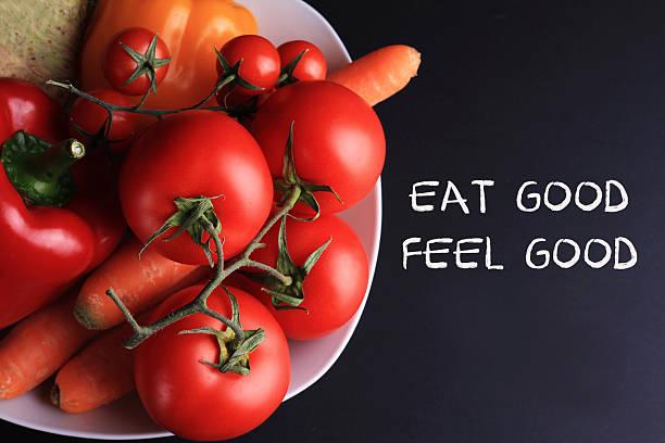 motivation inspirational quote eat good feel good. - motivationsfitness zitate stock-fotos und bilder