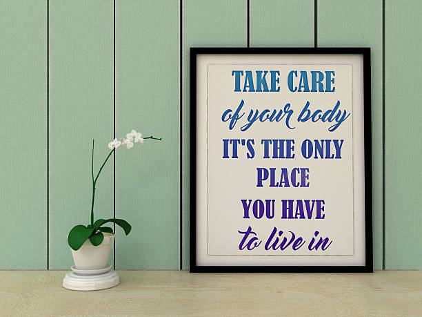 motivation inspirational quote take care of your body. - keine drama zitate stock-fotos und bilder