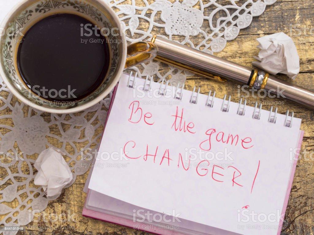 Motivation quote stock photo