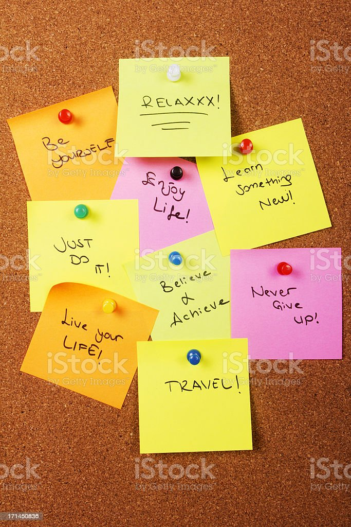 Motivation words for beautiful life stock photo