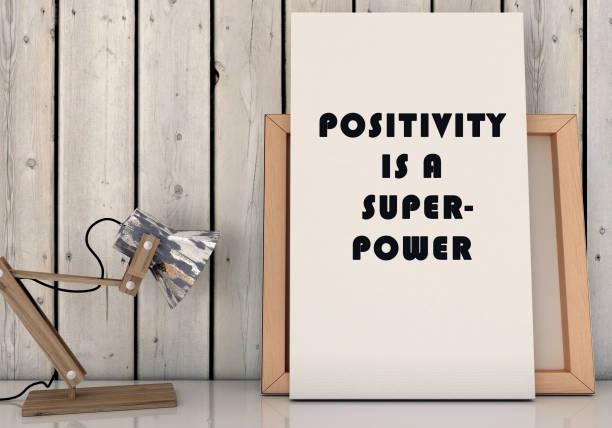 motivationsworte positivität ist supermacht. inspirierendes zitat. leben, glück-konzept. 3d-rendite - danke zitate stock-fotos und bilder