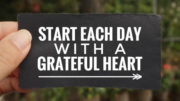 motivational and inspirational quote. - gratidão imagens e fotografias de stock