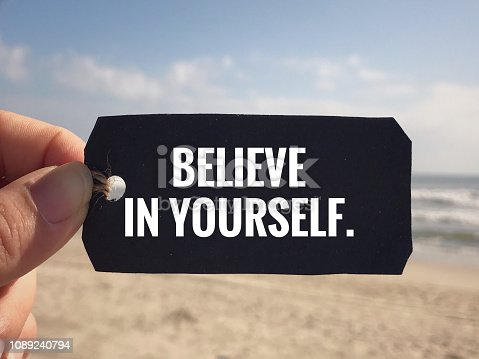 istock Motivational and inspirational quote. 1089240794