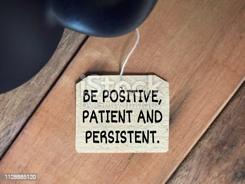 istock Motivational and inspirational quote. 1128885120