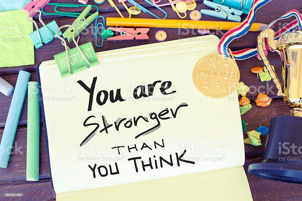 Motivational Phrase Note Background stock photo