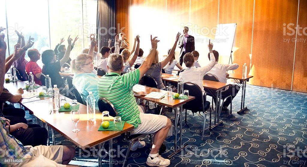 Motivational seminar bildbanksfoto